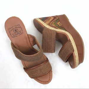 Lucky Brand • LK Candy Cork Wedges Vegan Leather
